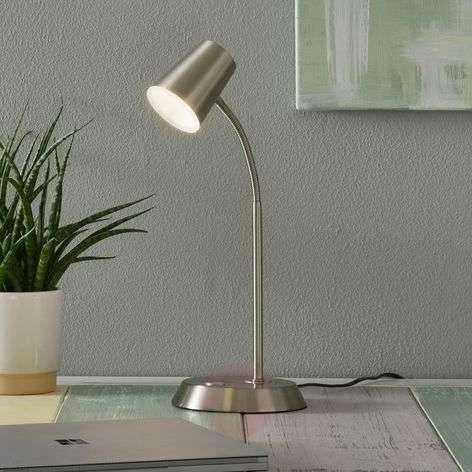 Nikkelin värinen LED-pöytälamppu Narcos