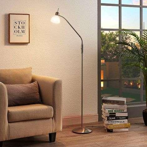 Nikkelinvärinen LED-lukuvalaisin Gwendolin