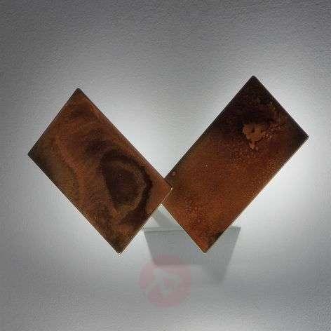 Oksidoitua metallia – LED-seinävalo Time