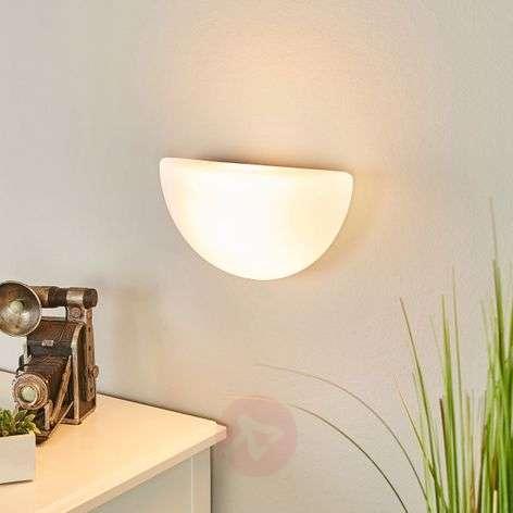 Opaalilasinen seinävalaisin, ei sis. valonlähdettä
