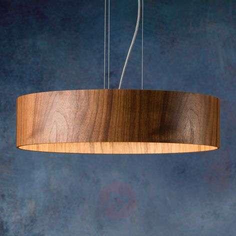 Pähkinäpuinen riippuvalo Lara Wood led-lampuilla