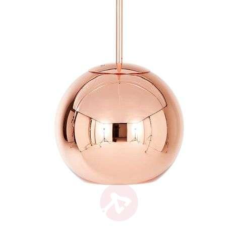 Pallonmuotoinen Copper Round -riippuvalaisin