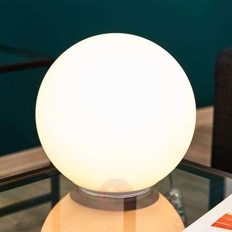 Pallonmuotoinen lasinen pöytälamppu Dioscuri 25 cm
