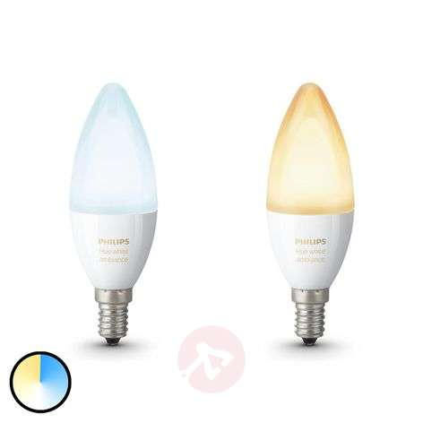 Philips Hue E14 2 x LED-kynttilä White Ambiance
