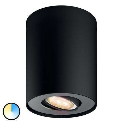 Philips Hue White Ambiance Pillar musta