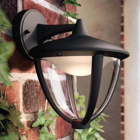 Philips Robin LED-ulkoseinävalaisin, lamppu alla