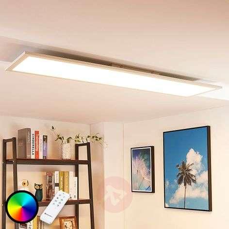 Pitkä LED-kattovalaisin Tinus, RGB ja lämmin valk.