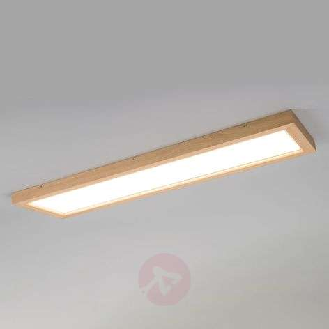 Pitkä puinen LED-paneeli Addison, perusvalkoinen