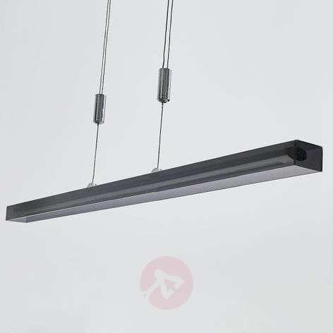 Pitkänmallinen LED-riippuvalo Jethro, savunharmaa