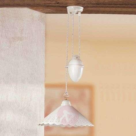 Pizzo-riippuvalo heilurivedolla, 1-lampp., 40 cm