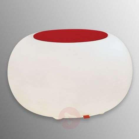 Pöytä Bubble Indoor LED valkoinen + huopa punainen