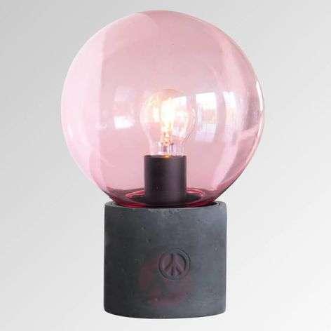 Pöytävalaisin Peacebubbles lasivarjostimella roosa