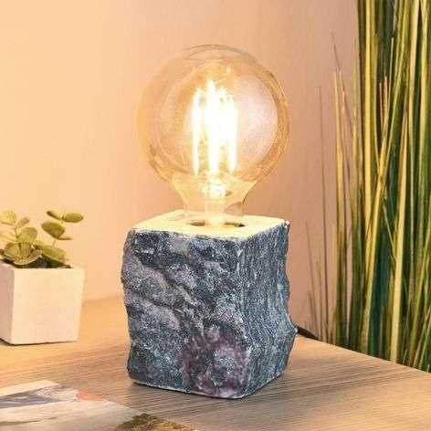 Pöytävalaisin Stone harmaata marmoria