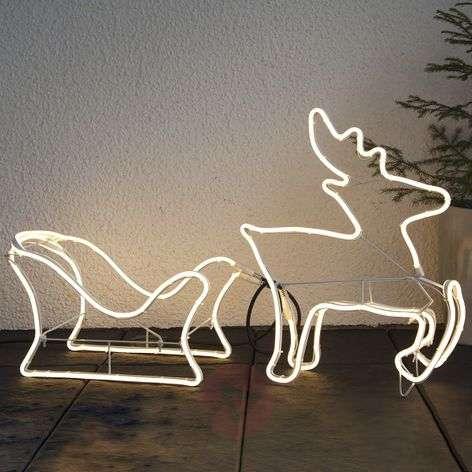 Porokelkka-siluetti LED-koristefiguuri NeoLED-1523461-31