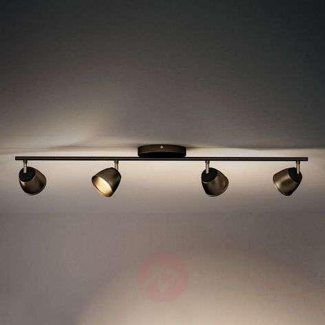 Pronssinvärinen LED-kattovalaisin County, 4-lamp.