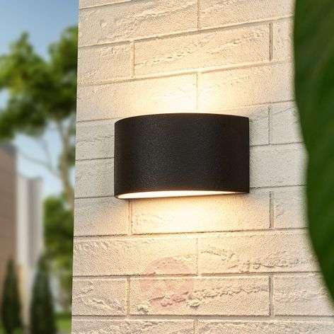 Puolipyöreä Edonie-LED-ulkoseinävalo – 20 cm leveä