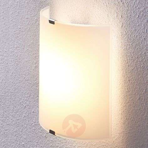 Puolipyöreä LED-seinävalaisin Helmi, lasivarjostin