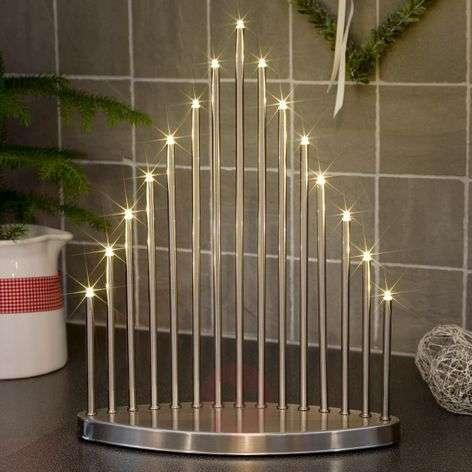 Puristinen LED-koristekynttelikkö Tabena