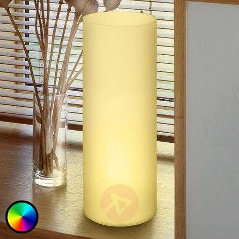 Putkimainen Elluno-C-pöytävalaisin, LED RGBW