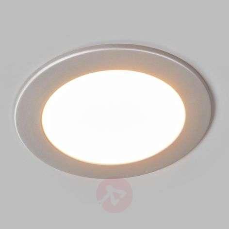 Pyöreä, hopeanvärinen Joki-LED-uppovalo