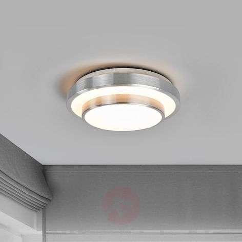 Pyöreä Huberta-LED-kattolamppu alumiinikehyksellä
