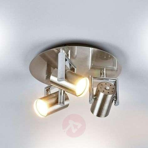 Pyöreä LED-kattovalaisin Luciana, 3-lamppuinen