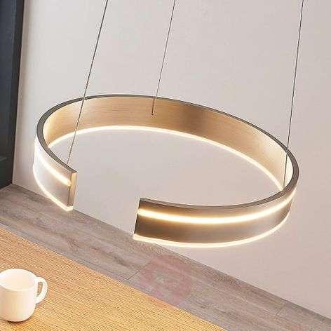 Pyöreä LED-riippuvalaisin Haga, himmen., kytkin