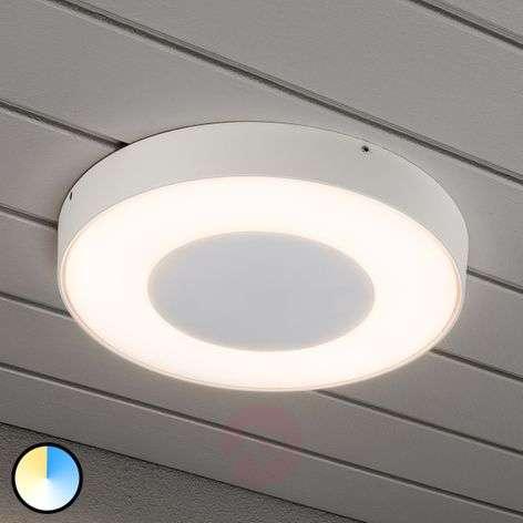 Pyöreä LED-ulkokattovalaisin Carrara valkoisena