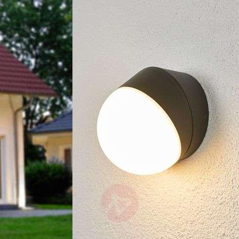 Pyöreä LED-ulkoseinälamppu Fjodor tunnistimella