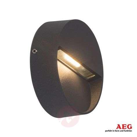 Pyöreä LED-ulkoseinälamppu Front, antrasiitti