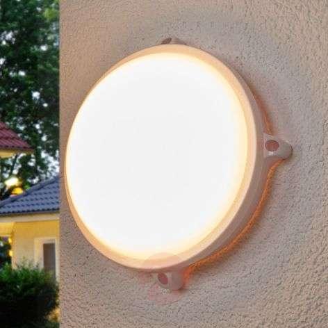 Pyöreä valkoinen LED-ulkovalaisin Manda