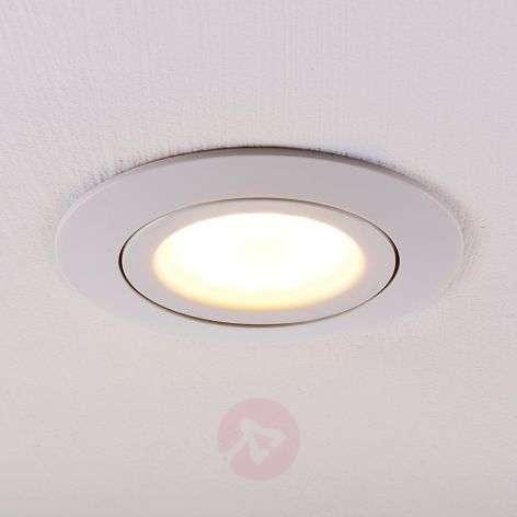 Pyöreä, valkoinen LED-uppokohdevalaisin Andre