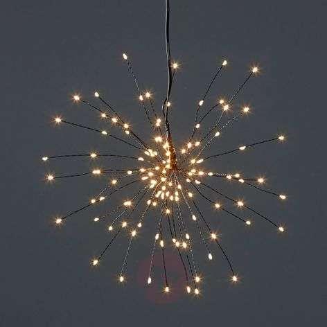 Riippuva LED-tähti Firework kolmiulotteisena