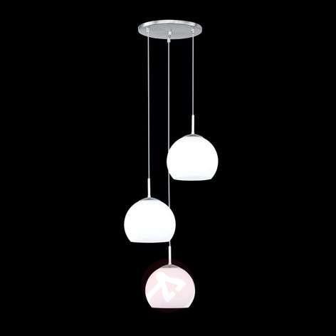 Riippuvalaisin Bolero, 3-lamppuinen, pyöreä
