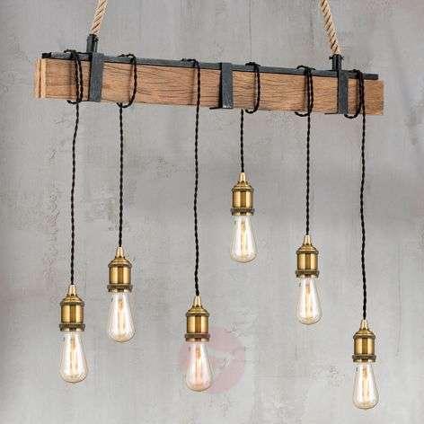 Riippuvalaisinpalkki Cellar, hamppuripustin 6-lamp