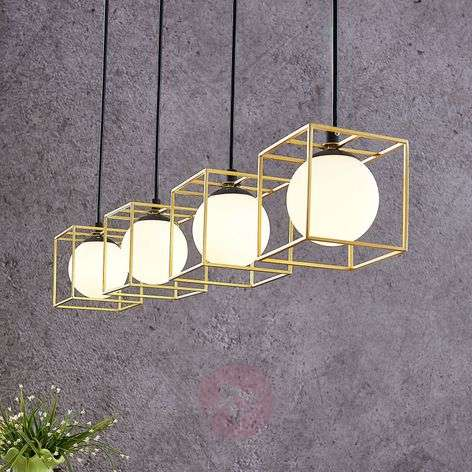 Riippuvalo Aloam, häkit ja lasipallot, 4-lampp.