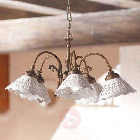 Riippuvalo Semino, keramiikkavarjostimet 5 lamppua