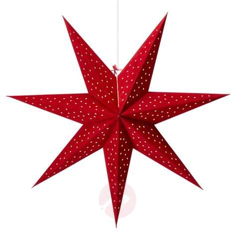 Ripustettava Clara-tähti, sametti, Ø 75 cm