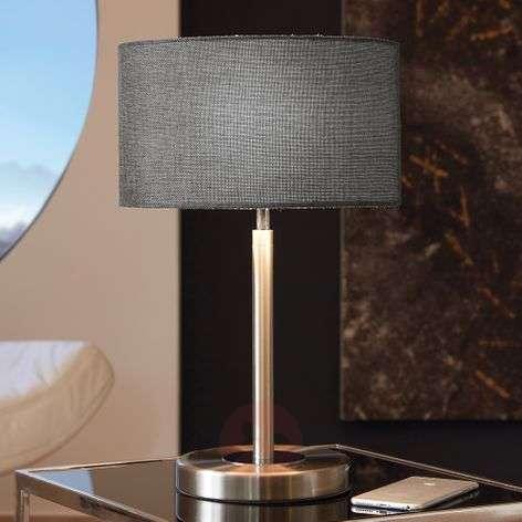 Romano – kaunis LED-pöytävalaisin, tekstiilivarj.