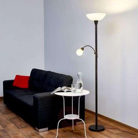 Ruosteenvärinen Elaina LED-jalkalamppu lukuvalolla