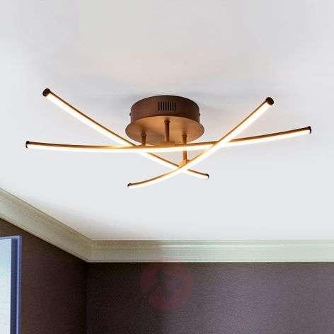 Ruosteenvärinen LED-kattolamppu Yael, 3 tangolla-9639042-32