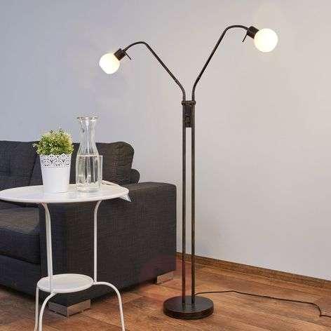 Ruosteenvärinen LED-lattiavalaisin Elaina