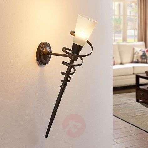 Ruosteenvärinen LED-seinäsoihtu Tjark