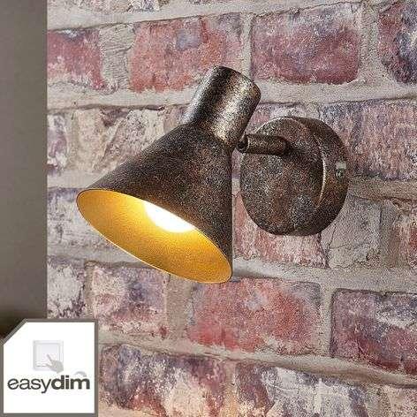 Ruosteenvärinen LED-seinävalaisin Zera, kultasisus