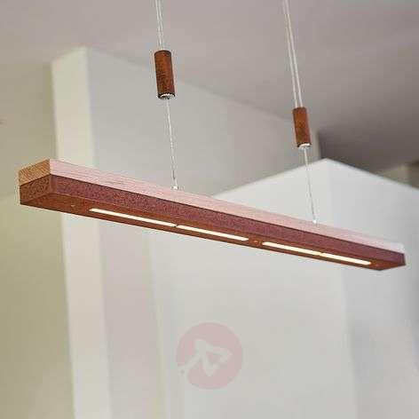 Ruostetta ja kokopuuta - LED-riippuvalo Elna