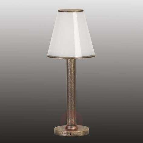 Ruskea-messinkinen Betty-pollarilamppu