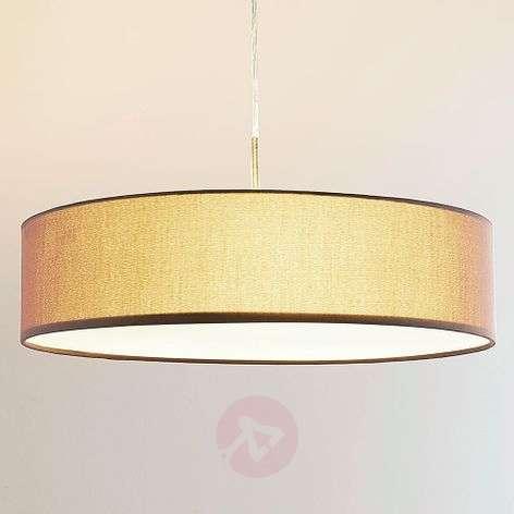 Ruskea tekstiiliriippuvalaisin Sebatin, E27-LED