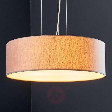 Ruskeanharmaa LED-tekstiiliriippuvalaisin Gala