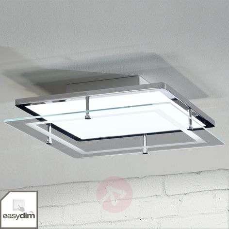 Sandra Easydim-LED-kattolamppu lasilevyllä