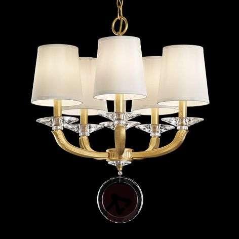 Schonbek Emilea -kattokruunu, 12-lamppuinen, kulta